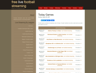 livefootballstreaming247.com screenshot