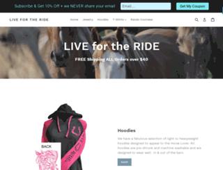 livefortherideapparel.com screenshot