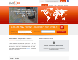 livegpssearch.com screenshot
