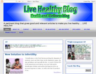 livehealthyblog.org screenshot