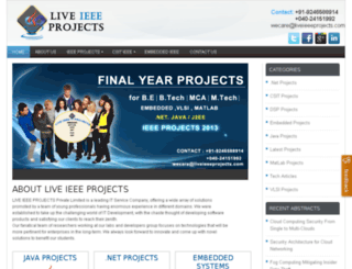 liveieeeprojects.com screenshot