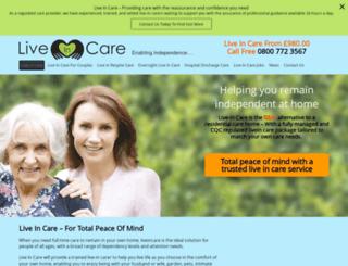 livein.care screenshot