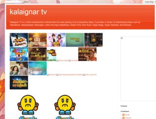 livekalaignartv.blogspot.in screenshot