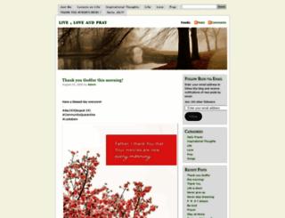 liveloveandpray.wordpress.com screenshot
