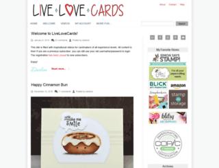 livelovecards.com screenshot