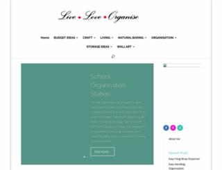 liveloveorganise.com screenshot