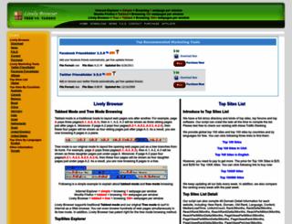 livelybrowser.com screenshot