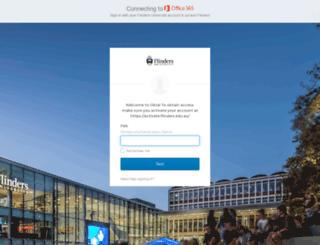 livemail.flinders.edu.au screenshot