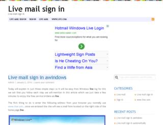 livemailsignin.org screenshot