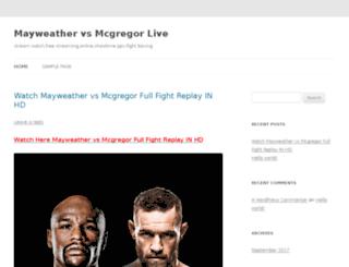 livemayweathervsmcgregor.net screenshot