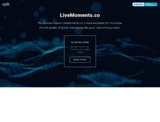 livemoments.co screenshot