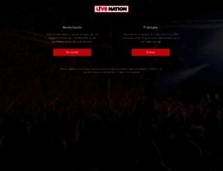 livenation.be screenshot