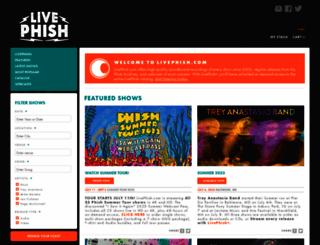 livephish.com screenshot
