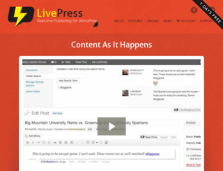 livepress.com screenshot