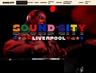 liverpoolsoundcity.co.uk screenshot