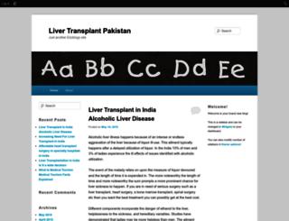 livertransplantpakistan.edublogs.org screenshot