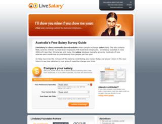 livesalary.com.au screenshot