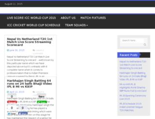 livescore-iccworldcup2015.in screenshot