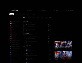 livescore.com screenshot