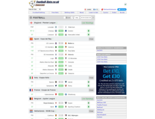livescore.football-data.co.uk screenshot
