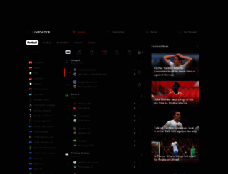 livescore.net screenshot