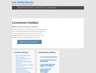 livestream-voetbal.nl screenshot