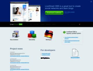 livestreetcms.com screenshot
