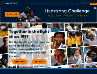 livestrong.org screenshot