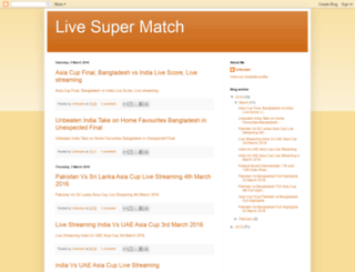 livesupermatch.blogspot.com screenshot