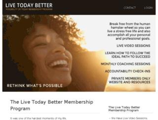 livetodaybetter.com screenshot