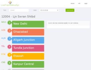 livetrainstatusapi.com screenshot