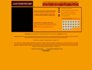 livetvcenter.com screenshot