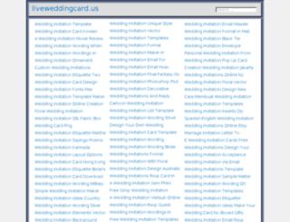 liveweddingcard.us screenshot