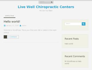 livewellchiropracticcenters.com screenshot