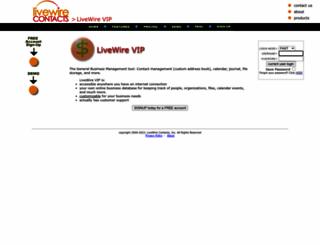 livewirevip.lwcr.com screenshot