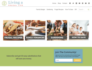 livingafrugallife.com screenshot