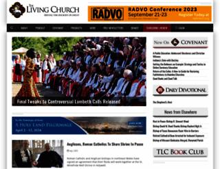 livingchurch.org screenshot