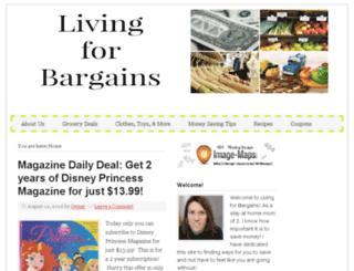 livingforbargains.com screenshot