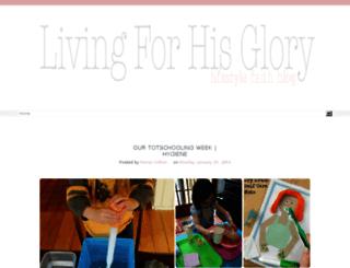 livingforhisglory2.blogspot.com screenshot