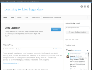 livinglegendary.org screenshot