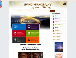livingmiraclescenter.nationbuilder.com screenshot