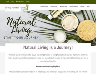 livingnaturaltoday.com screenshot