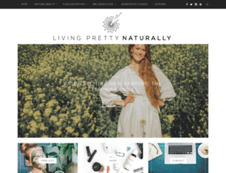 livingprettynaturally.com screenshot