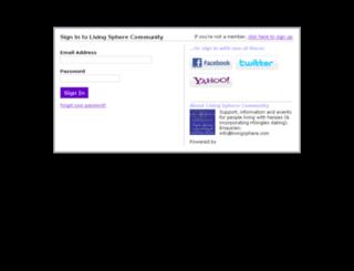 livingspherecommunity.com screenshot