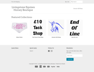 livingstone-equine.com screenshot