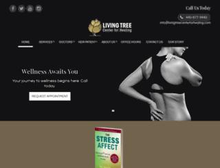 livingtreecenterforhealing.com screenshot