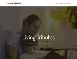 livingtributes.com screenshot