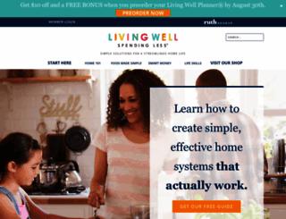 livingwellspendingless.com screenshot