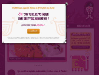livraison-paris-indien.fr screenshot