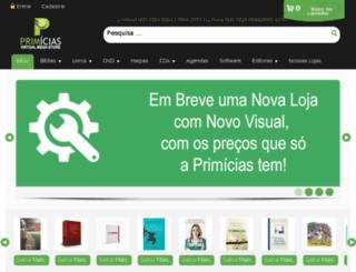 livrariaprimicias.com.br screenshot